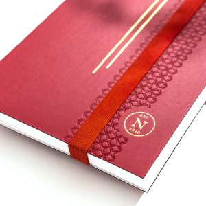 Luisa notebook in color ruby from nez living